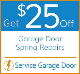 Get $25 Off Garage Door Spring Repairs